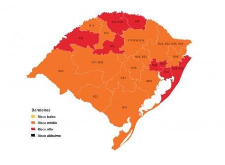 Oito regiões ficam na bandeira vermelha na 18ª rodada do Distanciamento Controlado