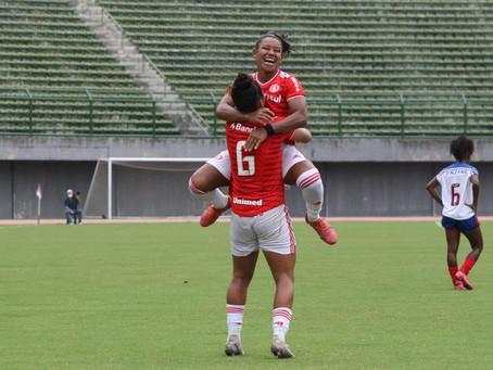 Inter faz 2 a 0 no Bahia e conquista primeira vitória no Brasileirão Feminino