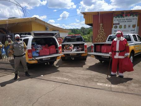 Pelotão Rodoviário de Erechim realiza entrega de doações do Natal Solidário Brigada Militar