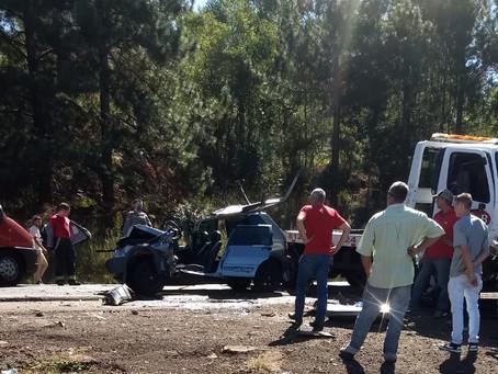 Uma pessoa fica ferida em um acidente na ERS-135 no começo da tarde desta sexta-feira (24)