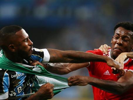 Paulo Miranda, do Grêmio, e Moisés, do Inter, pegam quatro jogos de suspensão por briga em Gre-Nal