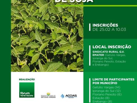 Fórum Norte Gaúcho lança III Concurso Regional de Produtividade de Soja