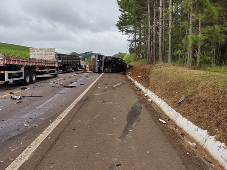 Colisão deixa vítima fatal na BR-153 entre Erechim e Concórdia