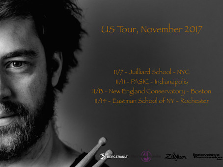 """US Tour Clinic """"Jacques Delécluse, studies for snare drum, from tradition to modernity"""""""
