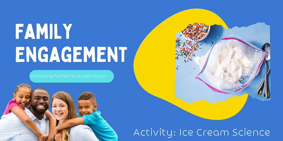 Family Engagement 2nd-3rd Grade Families- Ice Cream Science