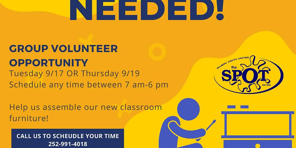 Group Volunteer Day (Thursday)