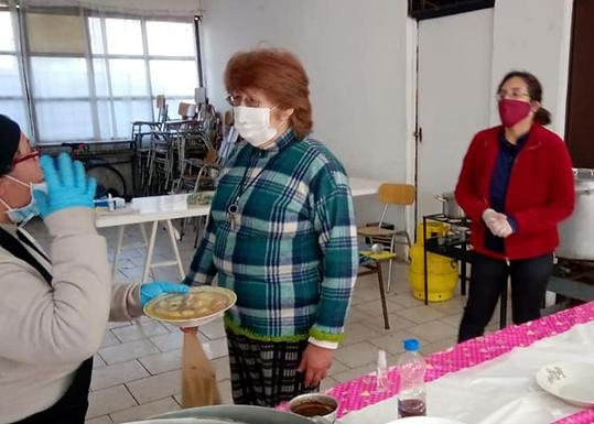 """Olla solidaria Junta de vecinos 25A """"El Estribo"""""""