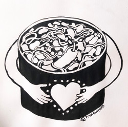 Cocinemos dignidad, condimentemos los corazones, alimentemos la unidad.