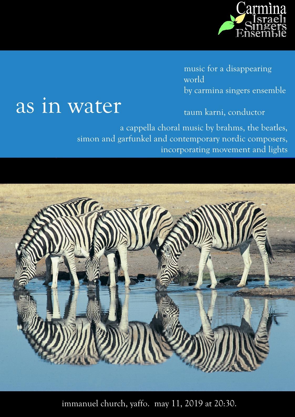 Carmina Water Poster english