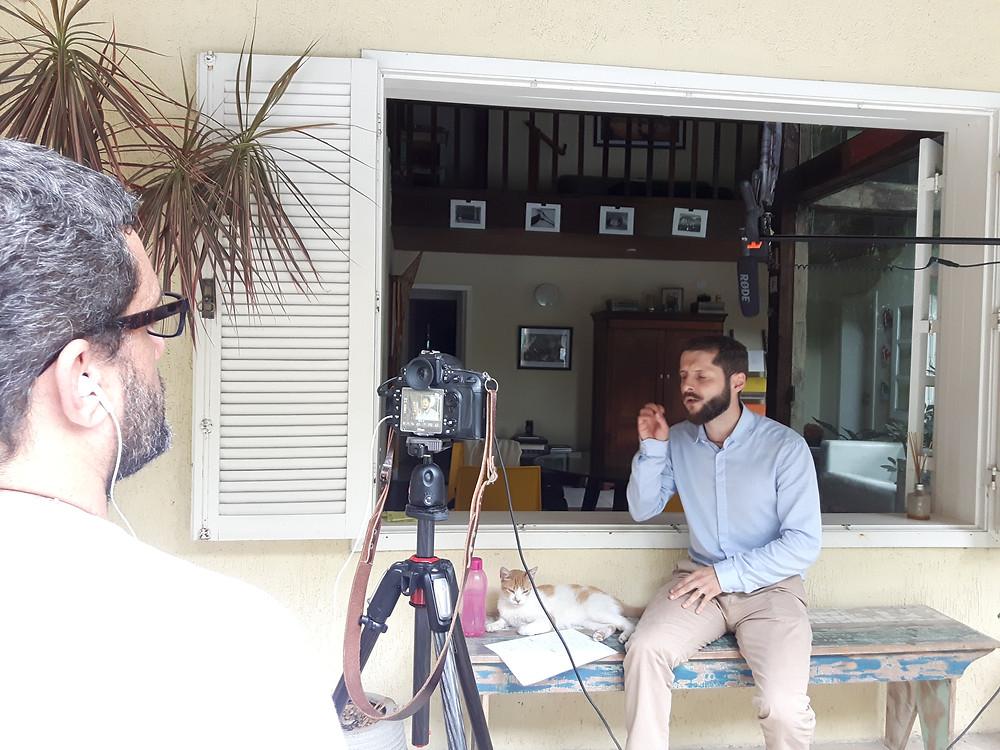 Gravação de um video para Atma Zen