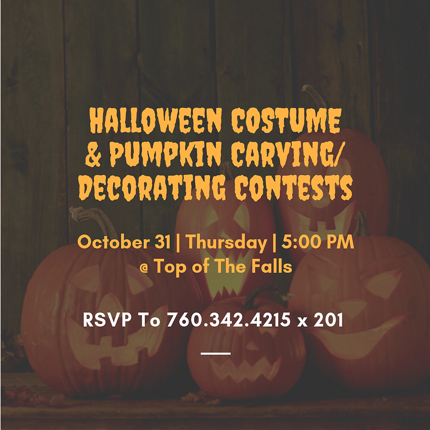 Halloween Costume & Pumpkin Carving/Decorating Contests