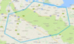 Map of area served including Faversham, Doddington, Marden, Headcorn and Selling.