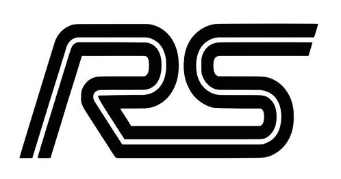 Ford RS Logo Vinyl Decals, Sticker Cosworth, Xr4i, Escort Vinyl Stickers X2