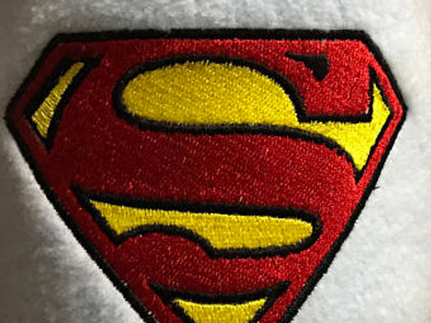 Superman Embroidered Baby Fleece Blanket Embroidered Personalised Newborn Gift,