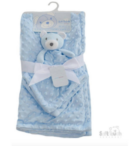 Super Soft Mink Baby Blanket & Comforter Pram Bubble Blanket Baby Comforter, Ted