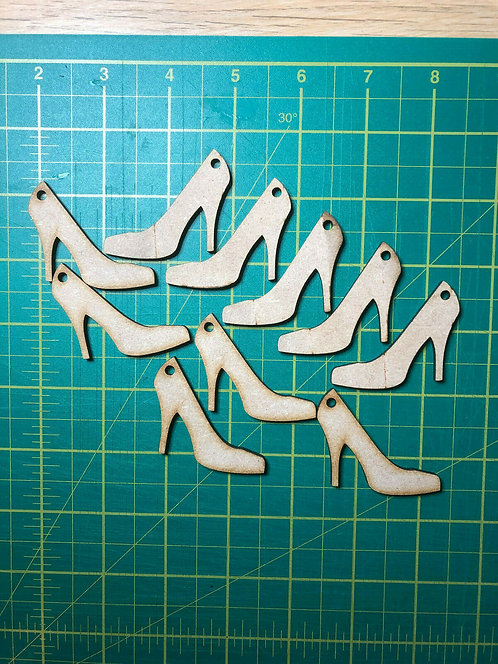 Wooden High Heel Shoe