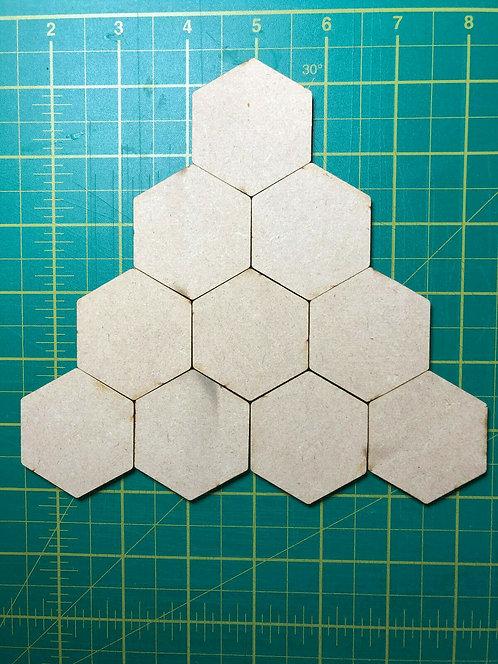 MDF Wooden Hexagon