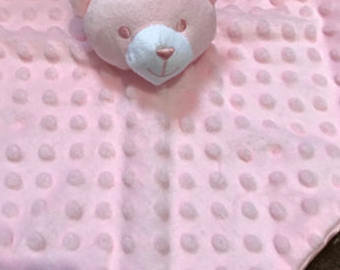 Soft Touch Personalised Baby Dimple Comforter Bear Boys & Girls Custom Bespoke G