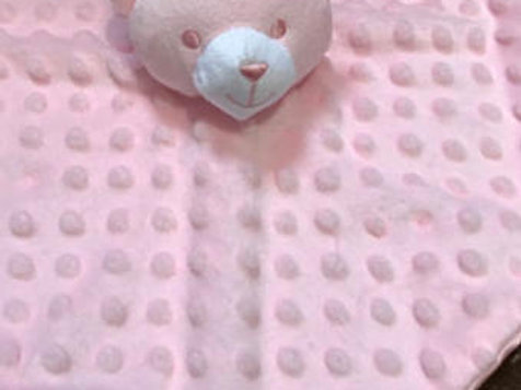 Soft Touch Personalised Baby Dimple Comforter Bear Boys & Girls Custom Bespoke G