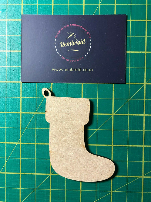Wooden Christmas Stocking