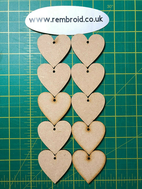 MDF Wooden Hearts