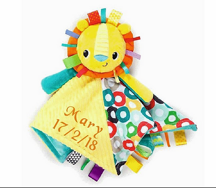 Personalised Taggies Bright Starts Cuddles N Tags Blankie Comforter Baby Taggy