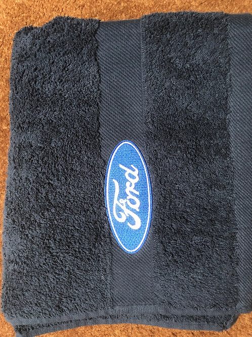 Ford Blue Oval Hand Towel, Embroidered Hand Towel, Ford Personalised Hand Towel.