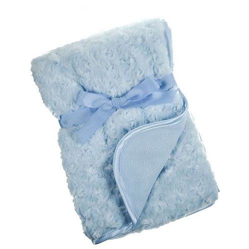 Soft Rose bud Fleece Baby Blankets with Satin trim