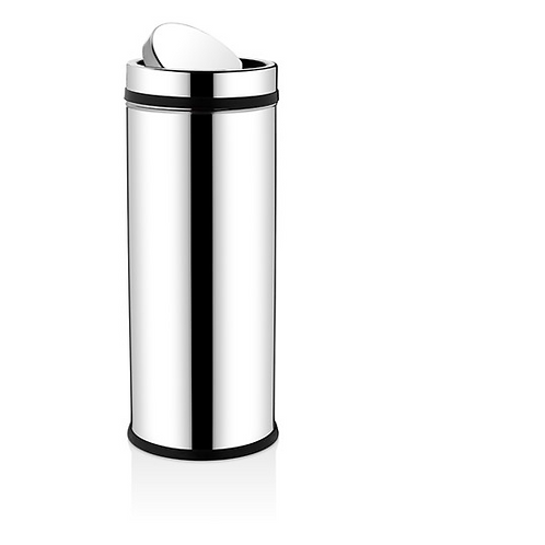 Swing top bin chrome