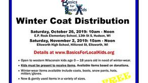 Volunteers needed 10/26/19 & 11/2/19