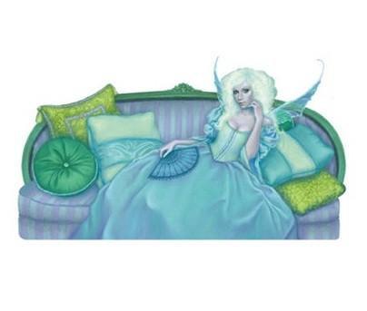 Green Gothic Fairy Sticker