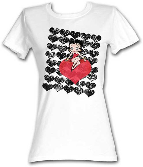 Betty Boop T-Shirt / Valentine's Hearts Juniors Tee
