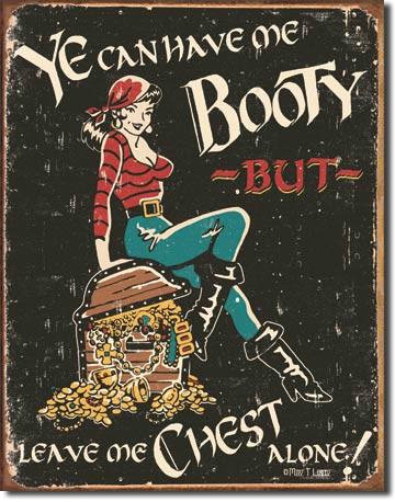 Pirate's Booty Chest Pin-up Pirate Sign