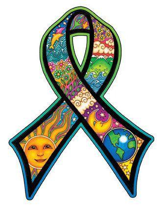 Earth Day Ribbon Sticker