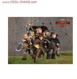 How to Train Your Dragon 2 Magnet-Hiccup+Warriors