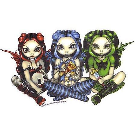 Voodoo Girls Gothic Fairy Sticker