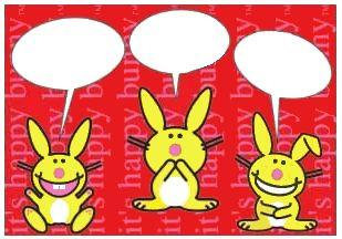 its Happy Bunny Write Your Only Funny Postcards Set