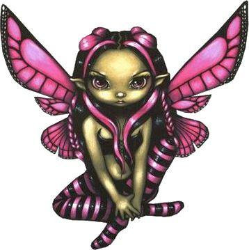 Hovering a Twilight Pink Fairy Car Magnet