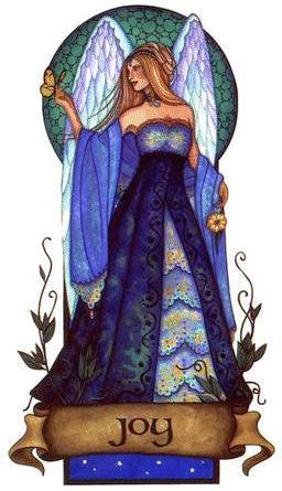 Angel Virtues Joy Angel Sticker