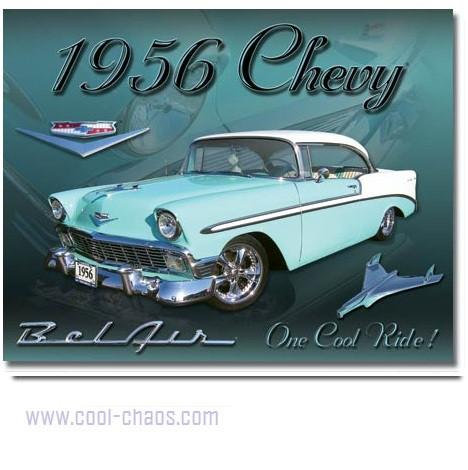 1956 Chevy Bel Air Tin Sign