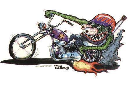 Monster Biker Sticker