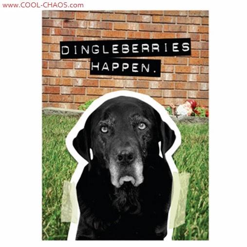 Dingleberries Bad Dog Black Lab Magnet