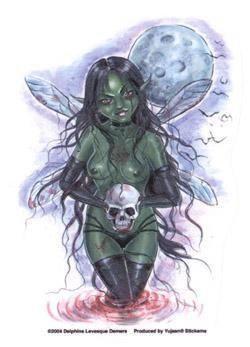 Strange Cemetery Zombie Fairy Sticker