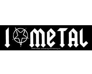 I love Metal Bumper Sticker
