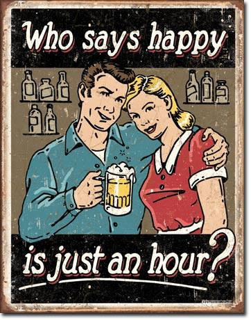 Schonberg Happy Hour Tin Sign