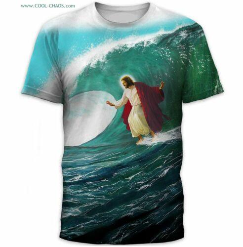 Surfin Jesus T-Shirt / Super Cool Sublimation Tee