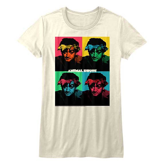 Animal House T-Shirt / John Belushi Warhol Art Juniors Tee