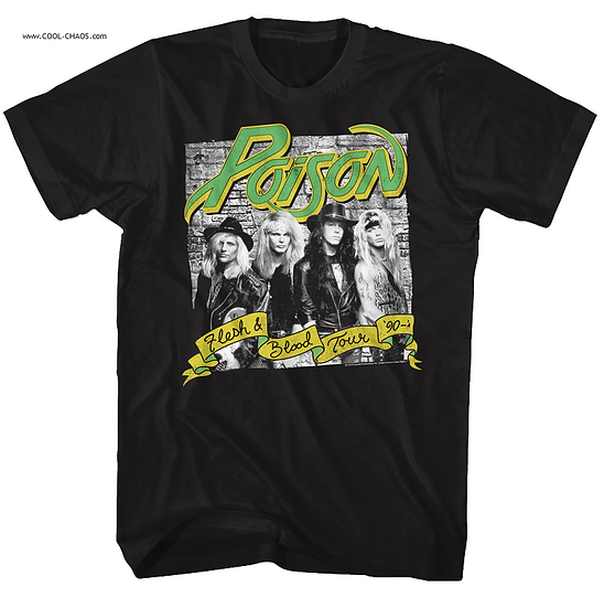 Poison T-Shirt / Poison 'Flesh and Blood' Rock Tee