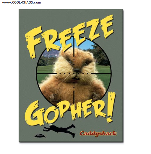 Caddyshack Tin Sign / Caddyshack Gopher