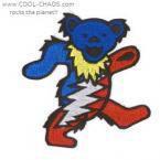 Lightening Dancing Bear Grateful Dead Patch